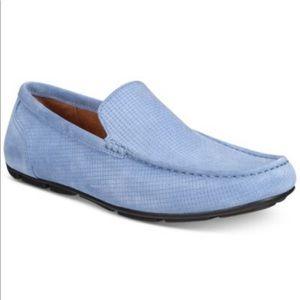 Alfani Mens Baby Blue Textured Driver Shoes